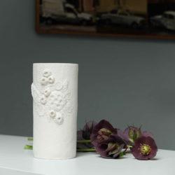 vase en porcelaine texturée
