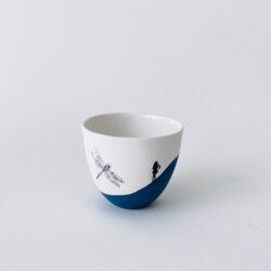 tasse porcelaine dessin libellule